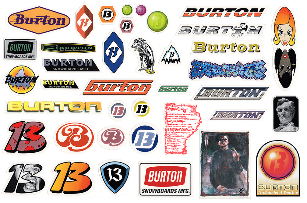 Burton Sticker Pack Full Comp Sm