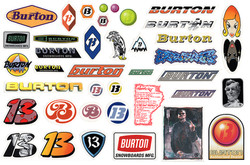 Burton Sticker Pack Full Comp Sm