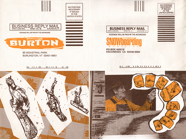 Burton Woods Catalog Mailer Cards Comp F