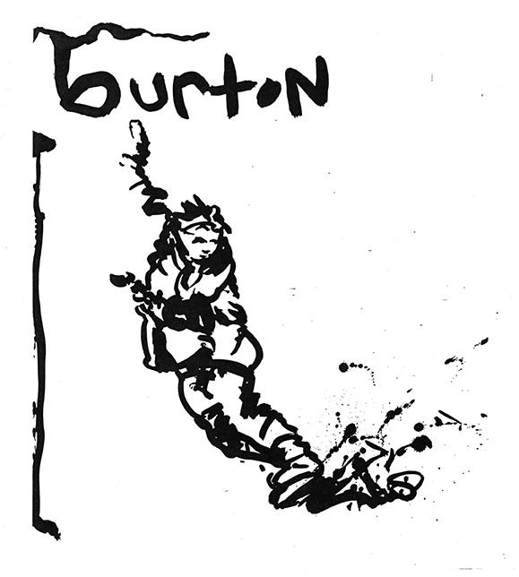 Burton Line Art B&W 1 Sm