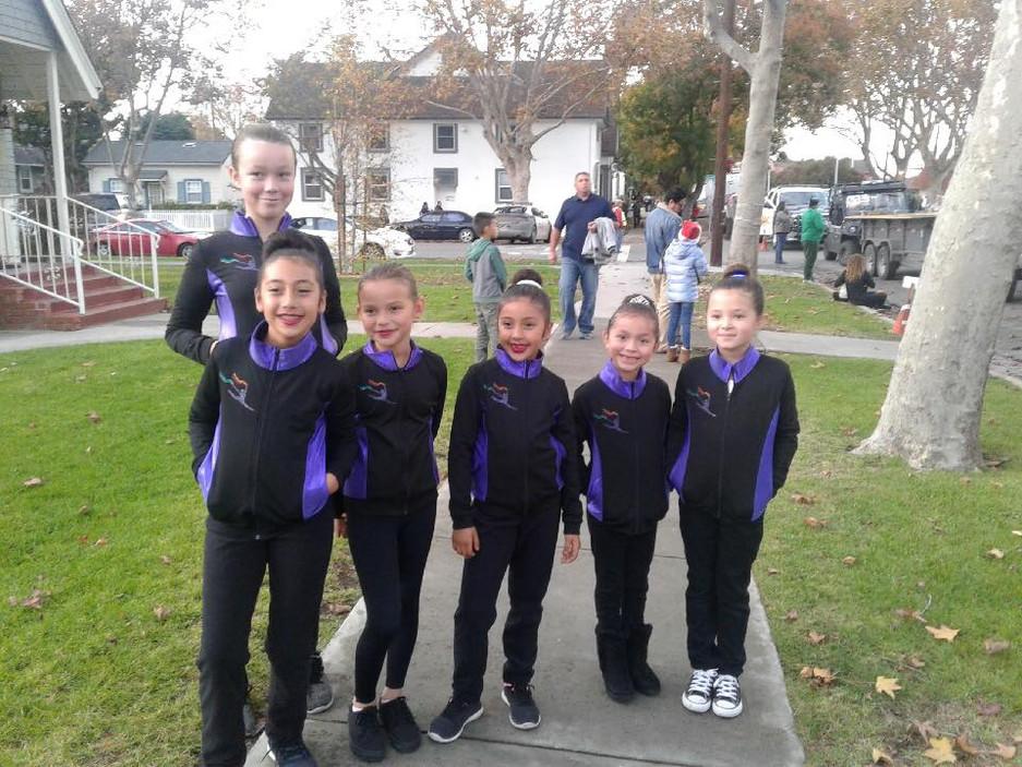 dance team lights on parade