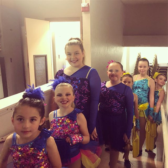 Spectra Dance Team backstage at the Stud