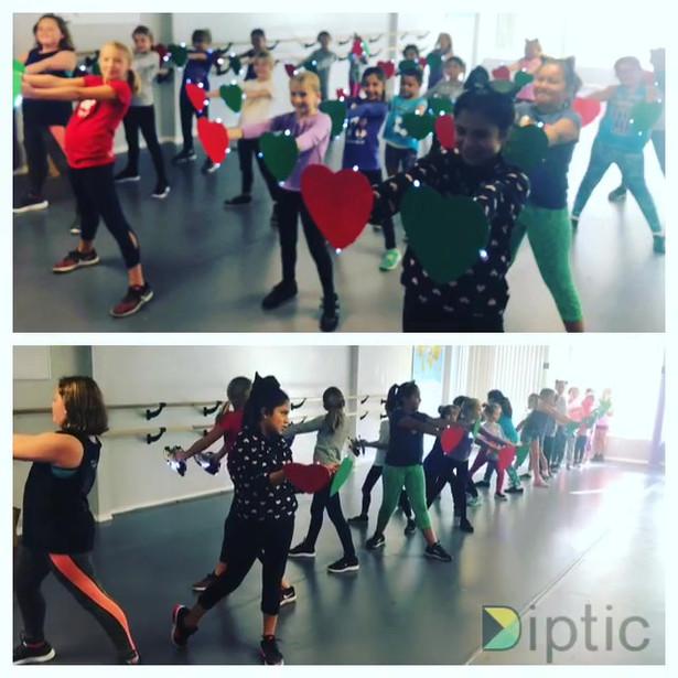 Spectra Dance Team Lights On Parade rehearsal 2018