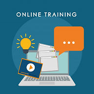 online-training-concept-with-icon-design