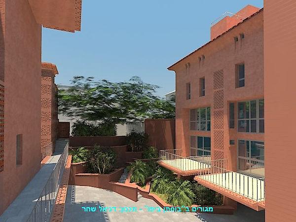 """מגורם ב""""גן הבוסתן"""" יפו - תכנון: דניאל שחר, אדריכל ומתכנן נוף"""