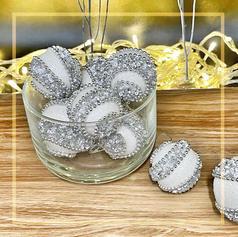 Paisley Glitter Ornament Balls Set