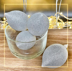 Silver Waterdrop Ornament