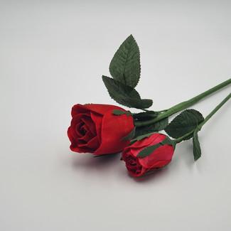 Kenya Rose (7cm) & Rose Bud (Red)