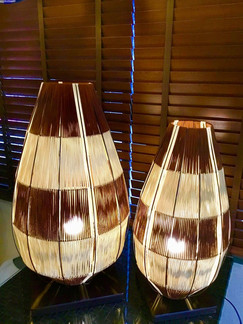 Lotus Table Lamp Small and Large D32xH48