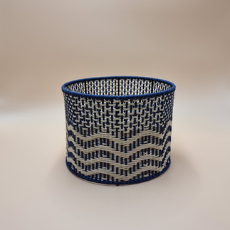 Wavey Round Basket