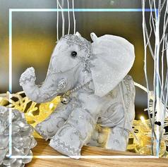 Pair of Handmade Elephant Ornament L