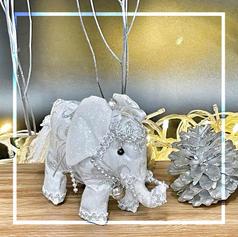 Pair of Handmade Elephant Ornament S