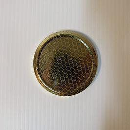 Metal Lid  Honey  Massi Honeycomb Pattern  Honey Jar Lid