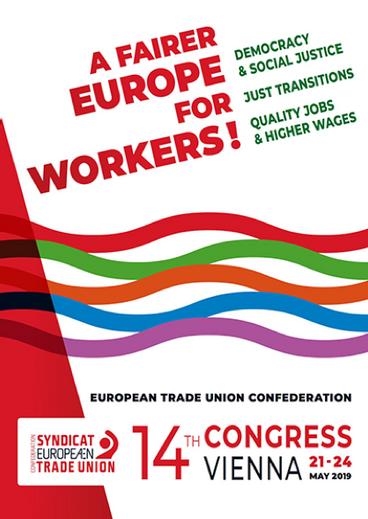 Vienna: 14° Congresso della confederazione Europea dei Sindacati CES