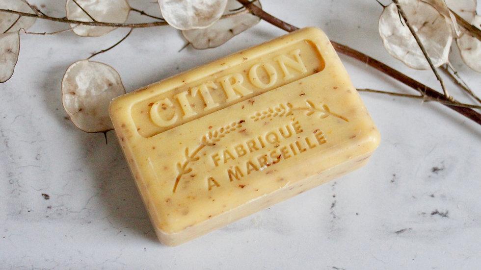 Crushed Lemon Soap & Travel Bag