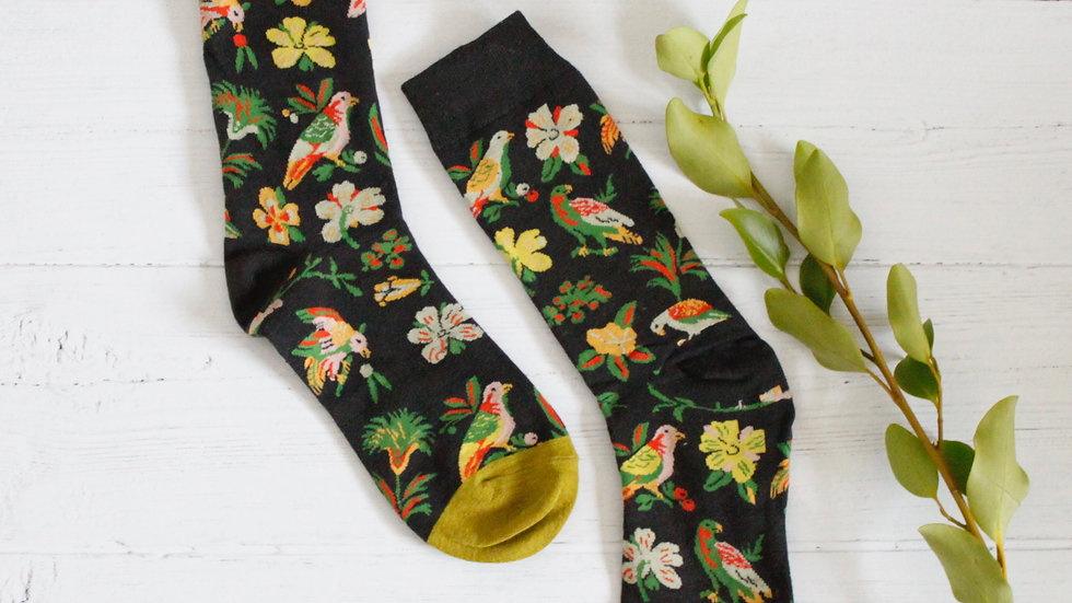 Birds & Flowers Socks