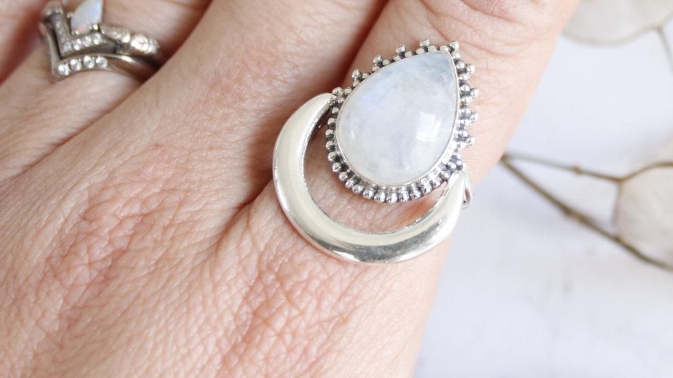 Celestial Moonstone Ring