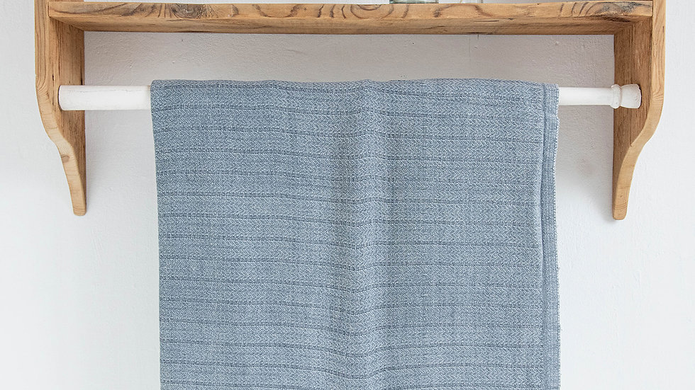Washed Blue Hammam Towel