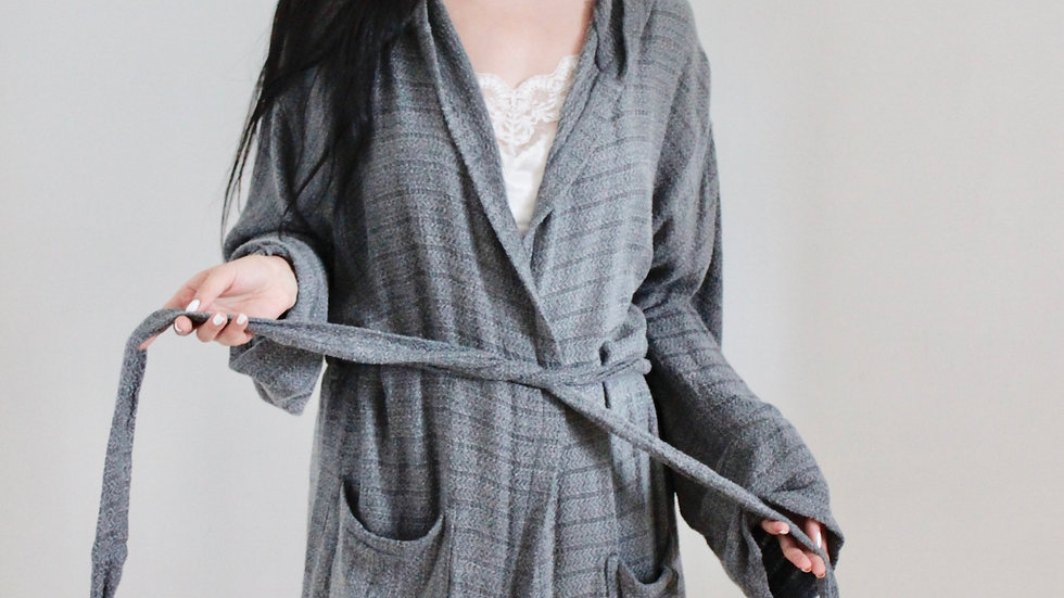 Charcoal Dressing Gown