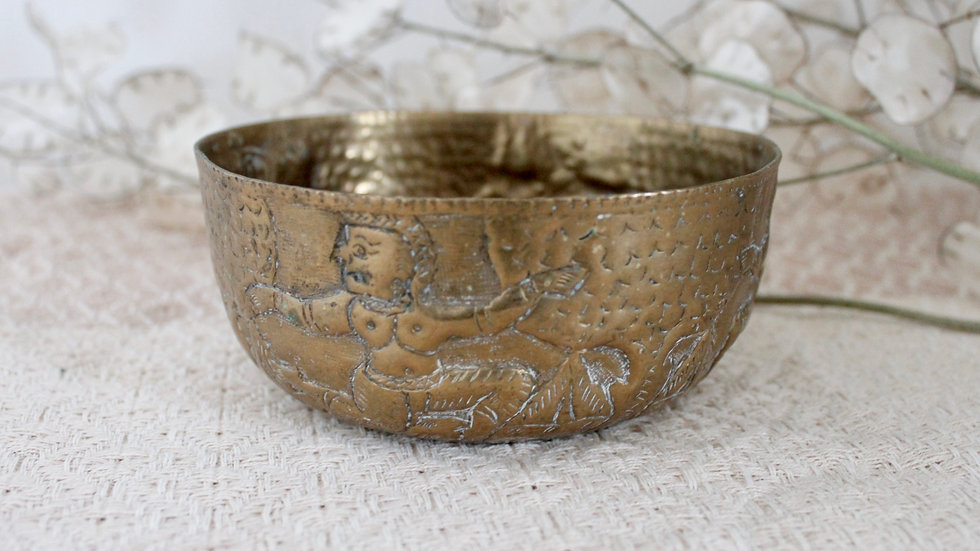 Dancing Gods Brass Bowl