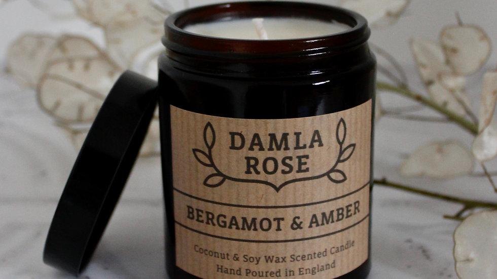 Bergamot & Amber Soy Candle