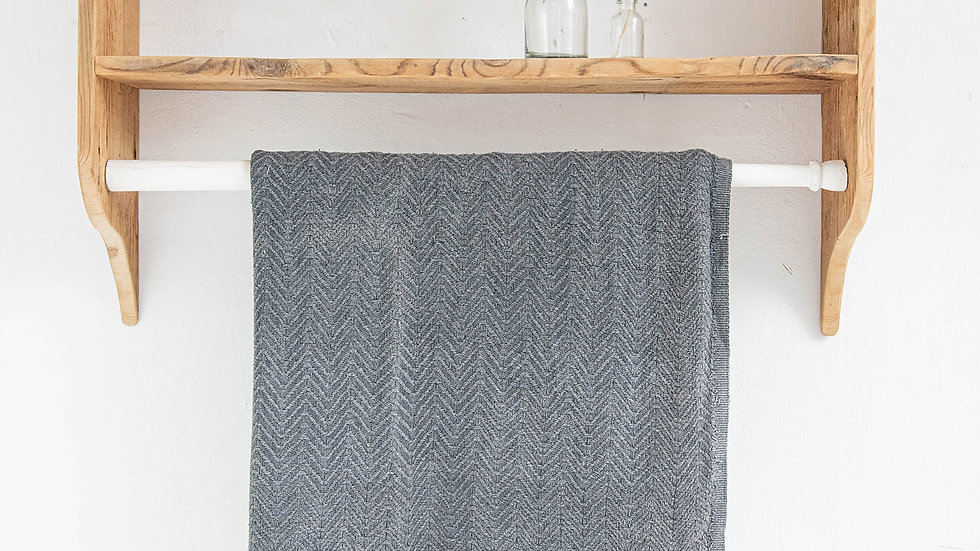 Washed Black Hammam Towel
