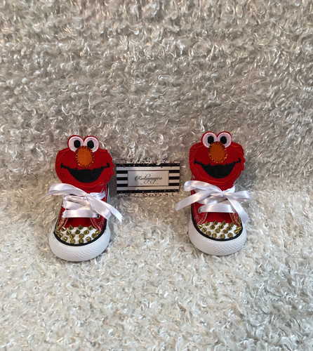 f136c62ef5ca Kustom Elmo spiked themed toddler converse