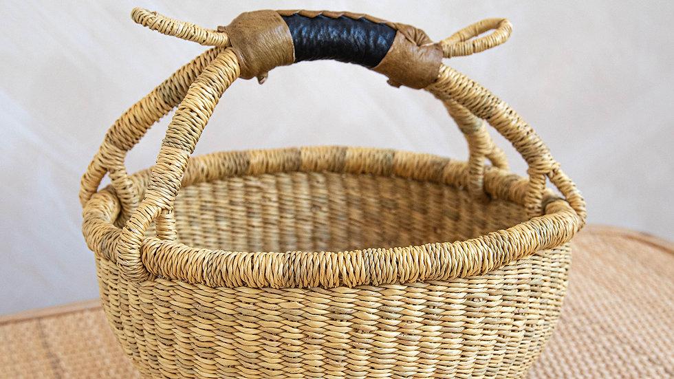 Natural Small Bolga Basket