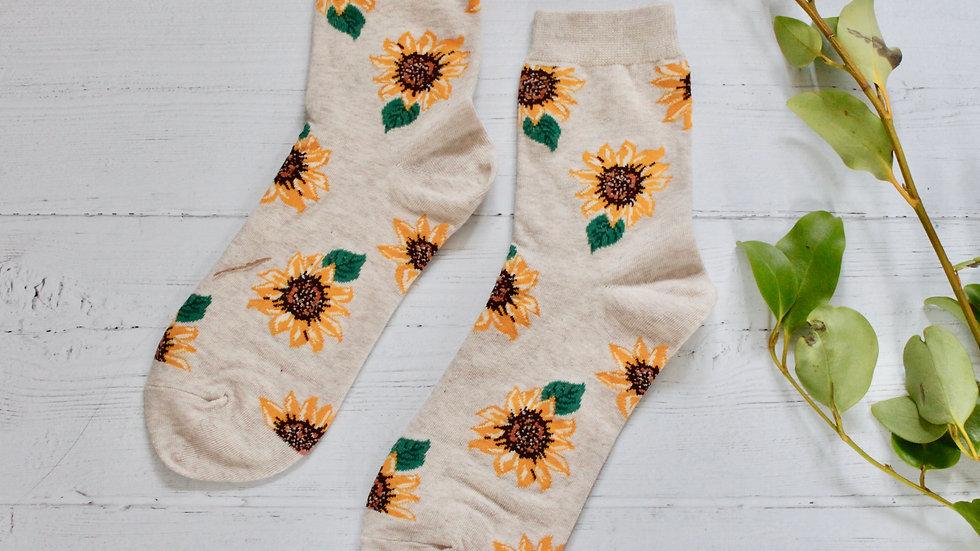 Oatmeal Sunflower Socks