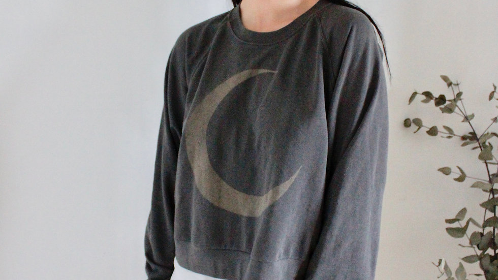 Moon Sweater in Charcoal