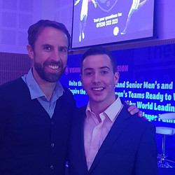with Gareth Southgate