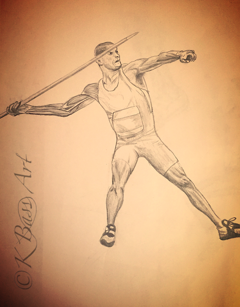 Anatomy Javelin Drawing