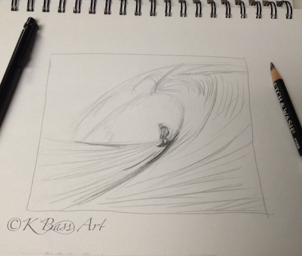 Surfer Drawing