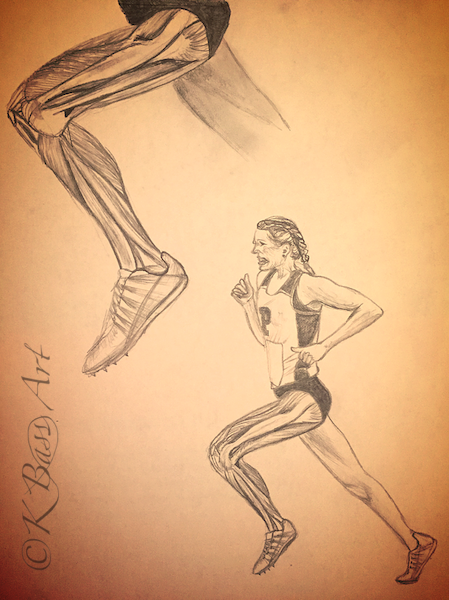Anatomy Runner Drawing