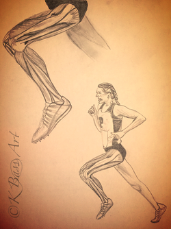 Anatomy Runner Drawing