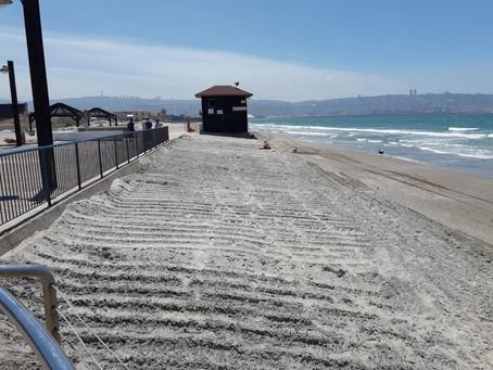 פרויקט הזנת חול לחופי הקריות הושלם בהצלחה