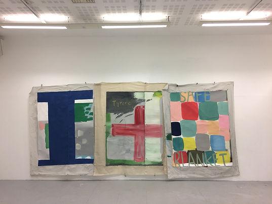 three paintings, 2017