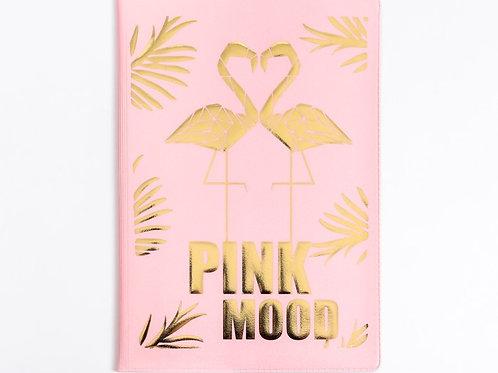 """Обложка на паспорт ПВХ с тиснением """" Pink mood"""""""