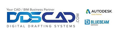 dds autodesk and bluebeam logos combined