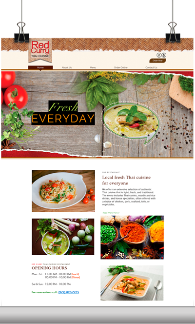 Red Curry Website