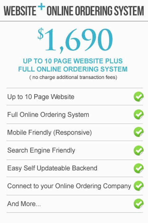 WEBSITE+ FULL ONLINE ORDERING SYSTEM