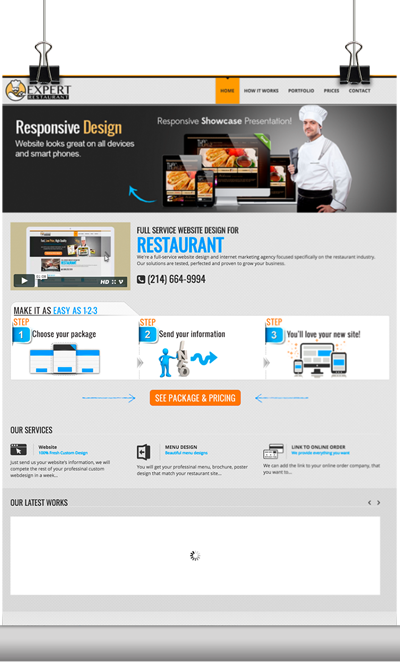 Expert Restaurant Website