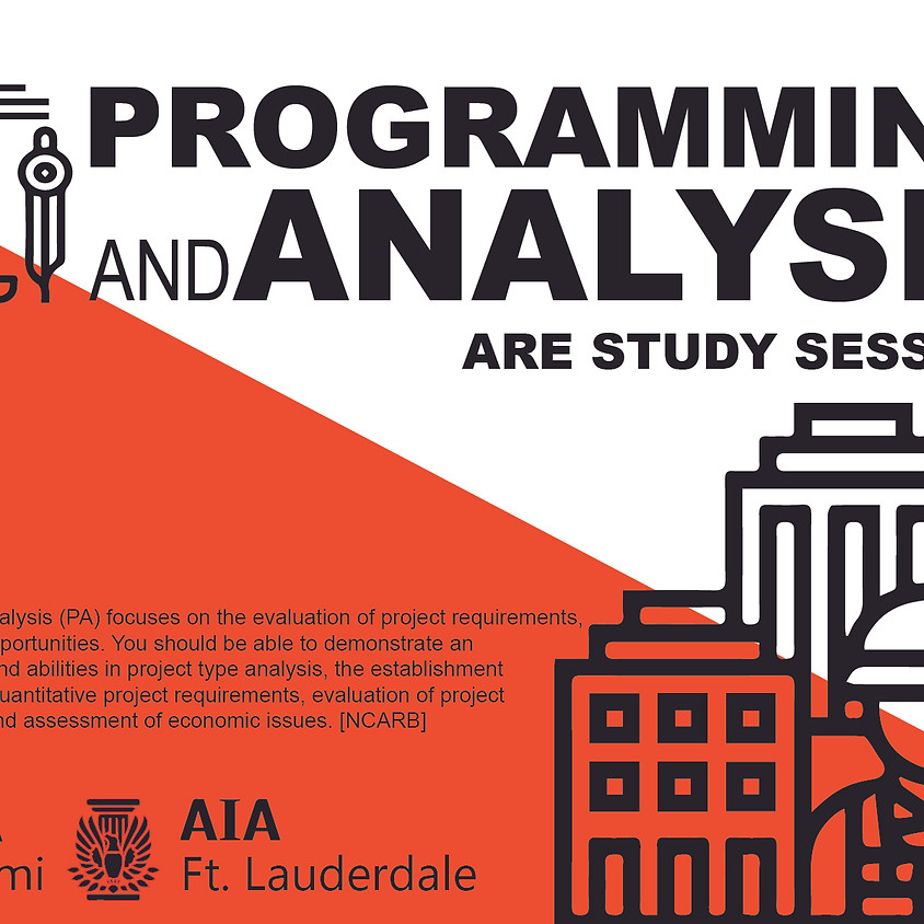 ARE Study Session- Programming and Analysis