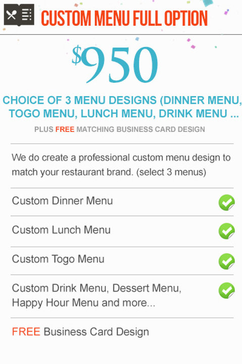 CUSTOM MENU FULL OPTION