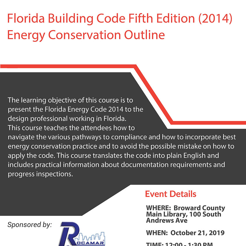 Florida Building Code Fifth Edition (2014)  Energy Conservation Outline