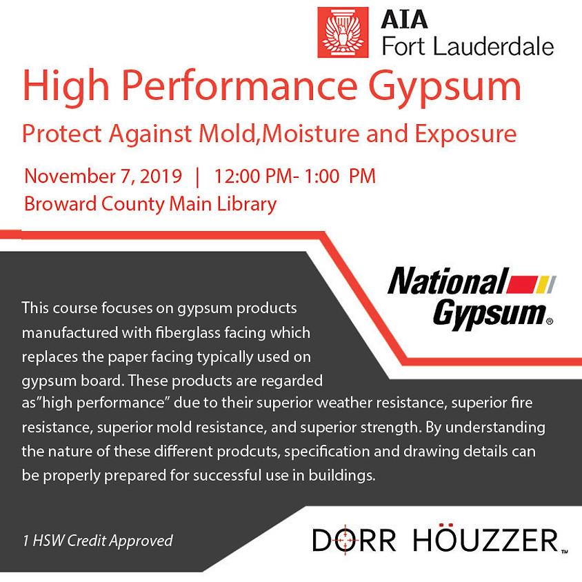 High Performance Gypsum: Protect Against Mold, Moisture & Exposure
