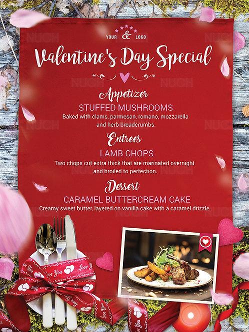 Valentine Restaurant Menu Flyer