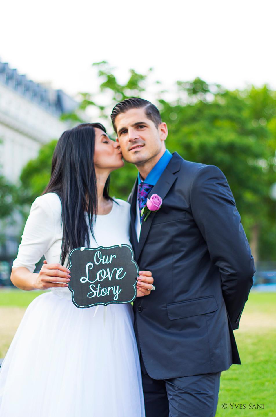 Mariage Paris - Notre histoire d'amour