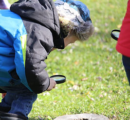 Image of Students Investigating with Magnifying Glasses