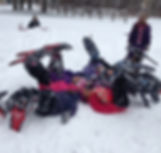 Image of Students with Snowshoes